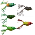 popular color soft plastic frog lure factory wholesale 55mm-13g