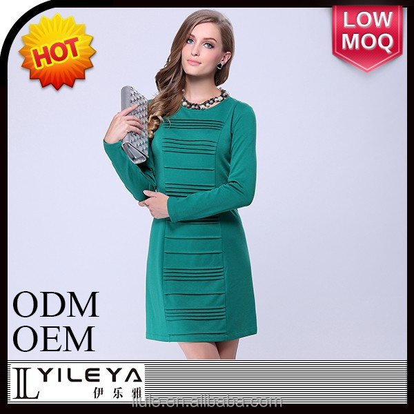 2014 new long sleeve evening dress