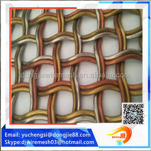 flexible round weave wire fabrics/Architectural Metal Drapery