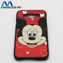 New developed sublimation transfer printing 2D mickey mouse image phone cases