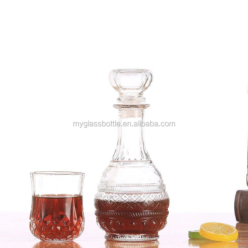 Hot sale lead free glass bottle for red wine
