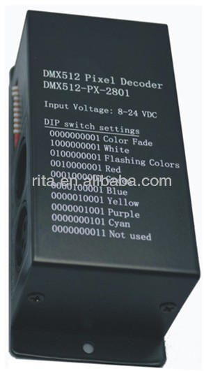 DMX to SPI controller,support ws2801 type led pixel light,512 channel output,max170 ws2801 pixels controlled
