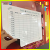 Quality custom full color fridge magnetic dry erase board