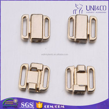 Neutral design metal closure buckle fix plastic lid for swimwear accessories