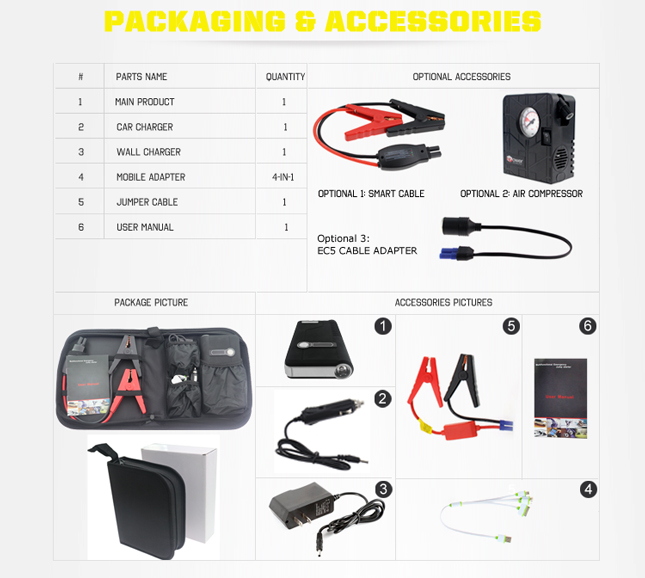 Factory delivery price mini portable car jump starter