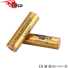 Free sample factory supply 3000mAh battery 3.7v lithium ion 18650 battery