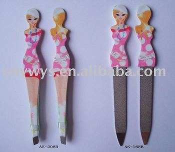 lady eyebrow tweezer/slanted tweezer/stainless steel