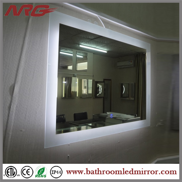 Hinged Bathroom Mirrors Crystal Make Up Mirror For Backlit