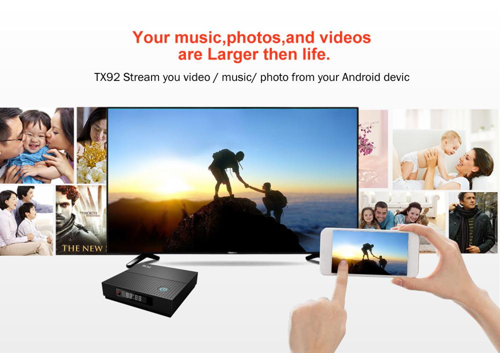 TX92 Pro Amlogic S912  Smart Android TV Box Free Test USA UK Japan Arabic IPTV set top box