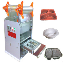 Plastic Roll Film Electric Driven Type Bowl Sealing Machine