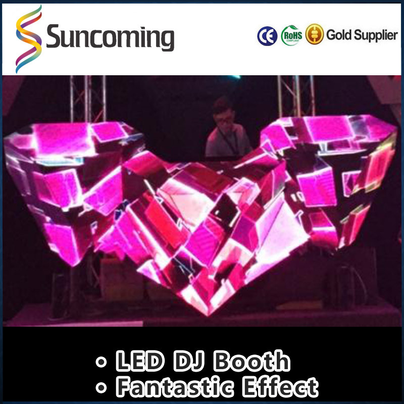 2016 New Design Professional led dj booth display screen for disco club bar, dj desk