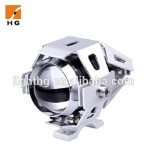 Waterproof IP68 15W 1500LM Chrome Headlights LED Driving Fog Lights for Motorcycle