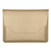 "Golden color with PU Leather Carrying Laptop Notebook Sleeve Bag for 12"" Apple New Macbook with Retina"