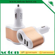 Low Price China Mobile Phone Type 5V 2 Amp Dual USB Car Charger For iPhone