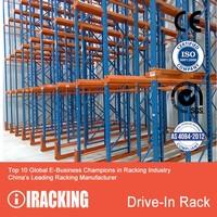 Drive In Pallet Rack for Warehouse Storage 1,000-4,000 Kg UDL/Level