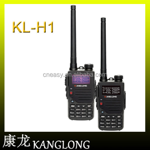 2016 New product KangLong KL-H1 walkie talkie 136-174mhz & 400-520mhz handy VHF+ UHF Two-Way Radio