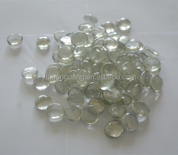 Flat bottom candle decorative clear glass balls