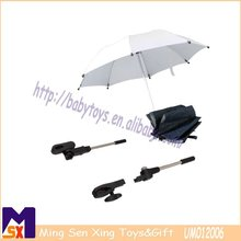 clip on umbrella,2 sections folding stroller parasol