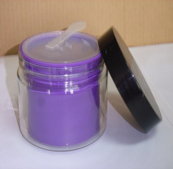 hot sale Wholesale Round purple 250ml PP face mask jar for cosmetic