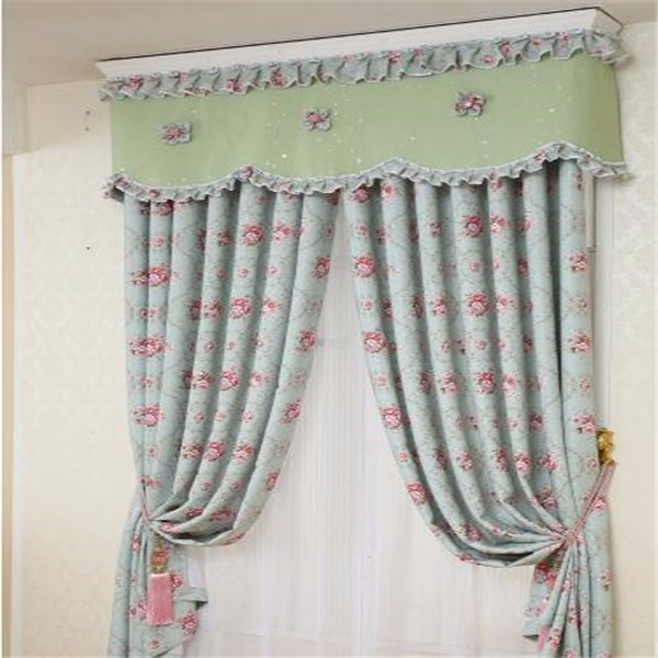 Valance curtains with printed flower pattern elegant house decor
