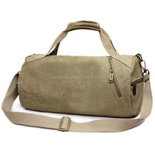 vintage fashionable canvas cylinder duffle bags