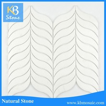 Thassoss White Marble Waterjet Mosaic for Wall