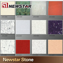 Newstar artificial stone marble affordable quartz laminate kitchen cabinet countertops sheets