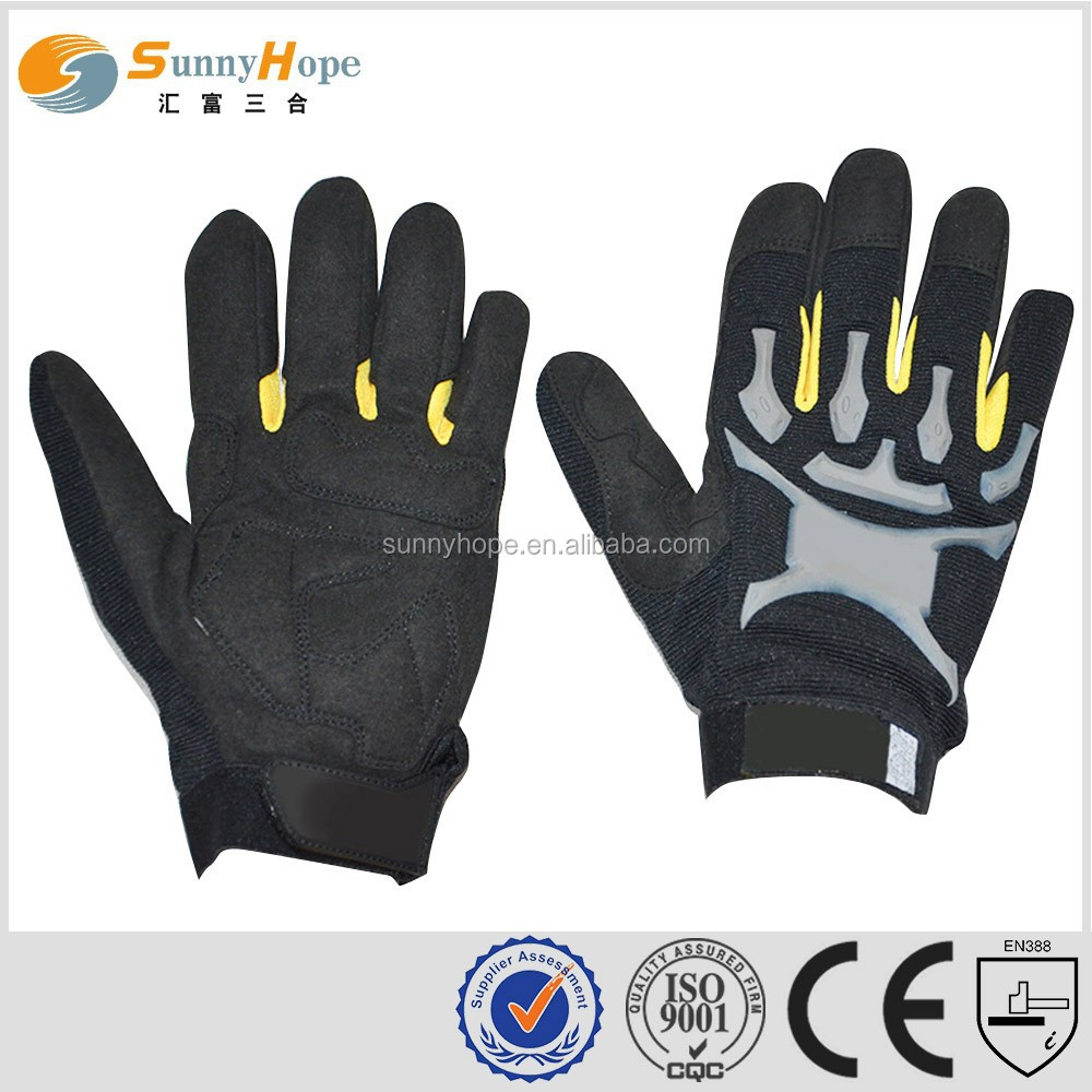 Sunnyhope Custom black Leathercraft Work Gloves, Medium glof gloves