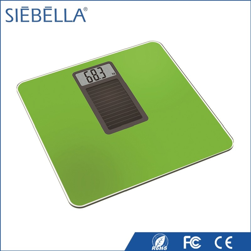 New LCD Display Solar Energy Weighing Balance Body Scale