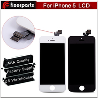Super quality for iphone 5 lcd display touch screen digitizer assembly with ear mesh pre-installed
