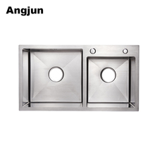 Stainless Steel Sound Deadening Pads Small Double Kitchen Sink