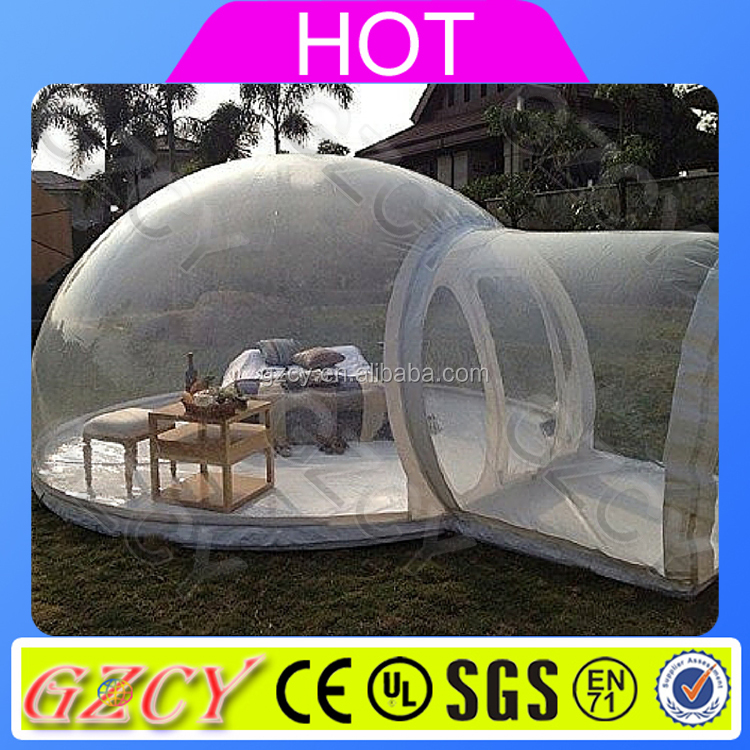 Guangdong Manufacturer Cheap Clear Inflatable Transparent Dome Tent For Outdoor Camping
