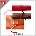 Custom Multifunctional Leather Pouch Small Genuine Leather Roll up Bag