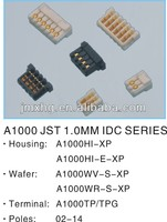 JST 1.0MM IDC connector,Wire To Board Connector/Housing/Wafer/Terminal connector,micro IDC socket connector