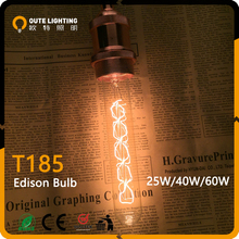 Long Lifespan CE RoHS T185 Carbon Filament Edison Lamp