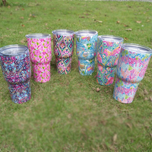 Drink Ware Stainless Steel Lilly Pattern Cups Tumblers Water Holder Container Drinking Mugs Dom 104370