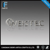 Famous car logo and their name 3D ABS plastic chrome plating self-adhesive chrome letters