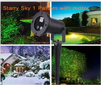 New product Starry Sky Green & Red Moving Laser Projector Landscape waterproof laser lights Christmas lights for outdoor
