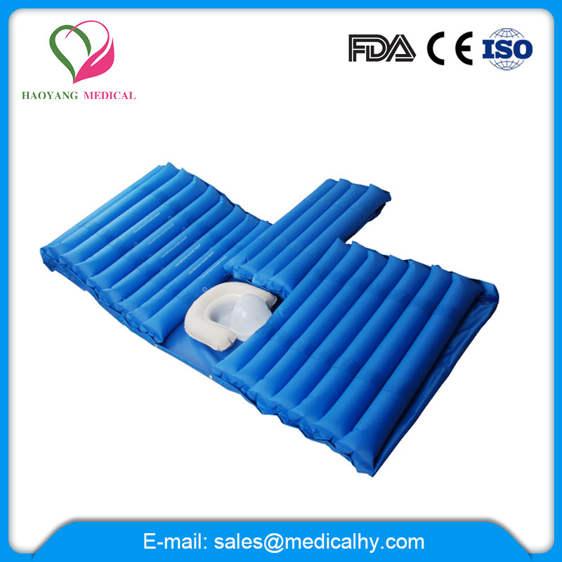 Adjustable medical air mattress with bed toilet for disabled patients