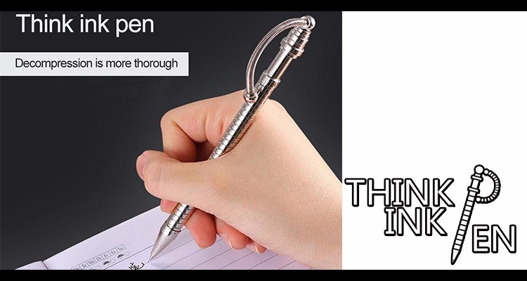 wholesales high quality think ink pen twist flex slide