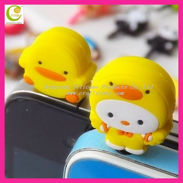 Creative Fashion Trendy Cell Phone Accessories Mobile Phone Charm Dust proof Silicone Rubber Masking Plug 2014