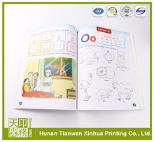Educational Book Childrens Color custom hardcover books with gray board