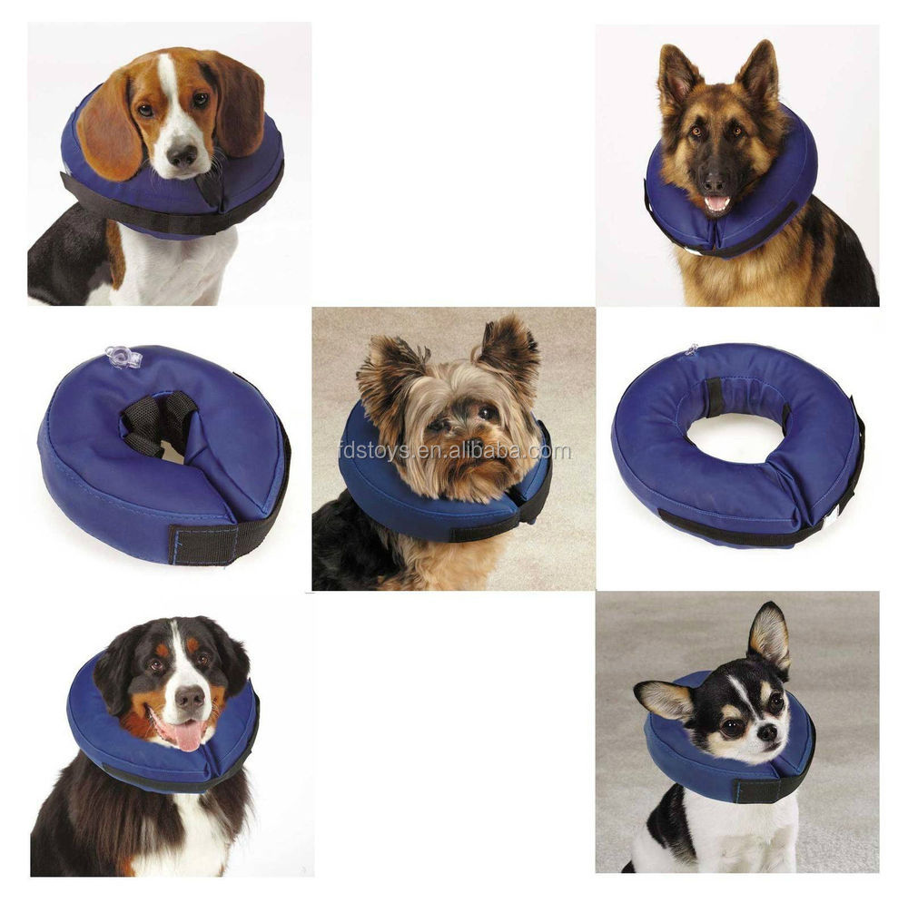 PVC inflatable pet neck pillows dog recovery protective collar