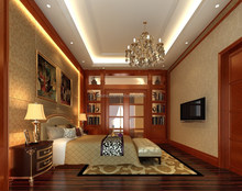 Bisini 3D interior rendering for master room