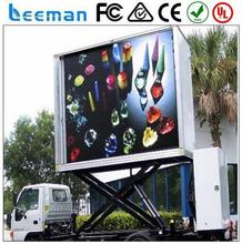 mobile truck led tv display Leeman 2015 bus led moving message display sign