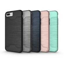 For iphone7 plus mobile phone case with card use