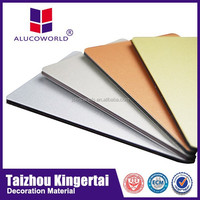 Alucoworld PPG Painting lightweight ceiling panel faux alabaster backlit ceiling panels aluminum composite panel