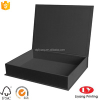 handmade black book shape large craft cardboard gift packaging boxes