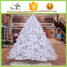 new style cheap snowing white outdoor metal christmas tree
