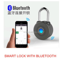 Open security keyless security bluetooth padlock electric bicycle motorcycle intelligent lock
